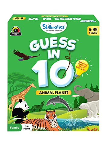 Skillmatics Card Game : Guess in 10 Animal Planet | Gifts for Ages 6 and Up...