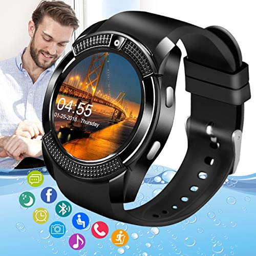 Amokeoo Smart Watch,Android Smartwatch Touch Screen Bluetooth Smart Watch...
