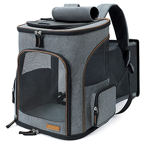 Lekesky Dog Carrier Backpack Expandable Cat Backpack for Small Cats and...