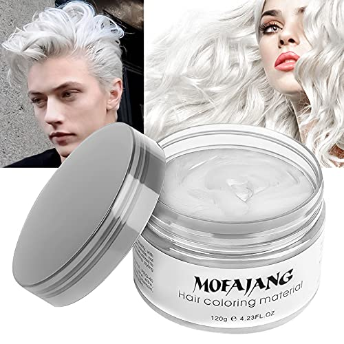 Temporary White Hair Color Wax, EFLY Instant Hairstyle Cream 4.23 oz Hair...