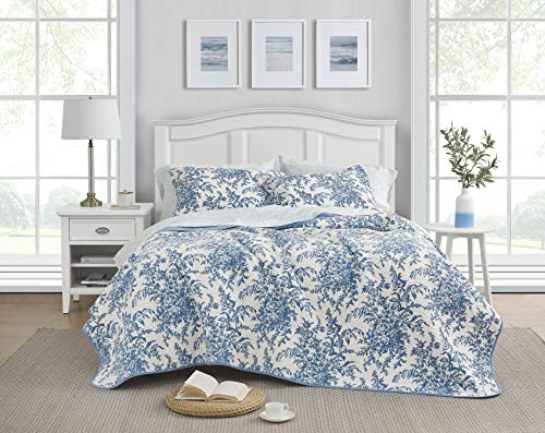 Laura Ashley Home | Bedford Collection Quilt Set-100% Cotton, Lightweight &...