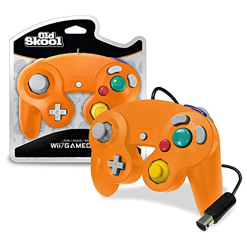 Old Skool Controller Compatible with Gamecube/Wii - Orange (Spice)