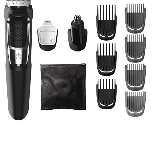Philips Norelco MG3750 Multigroom All-In-One Series 3000, 13 attachment...