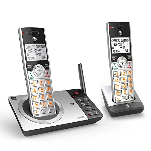 AT&T CL82207 DECT 6.0 2-Handset Cordless Phone for Home with Answering...
