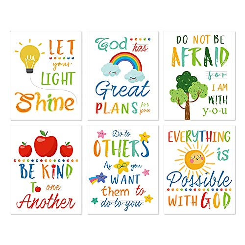 HLNIUC Colorful Rainbow Art Print,Kids Inspirational Quote Canvas Posters...