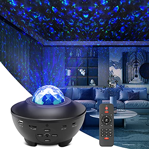Star Light Projector, Liwarace Galaxy Light Projector with Ocean Wave,Music...
