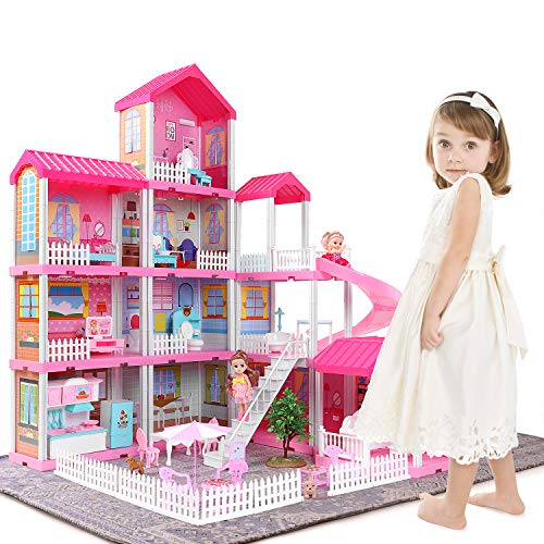 TEMI Dollhouse Dream House Toys for 3 4 5 6 7year Old Girls Building Toys...