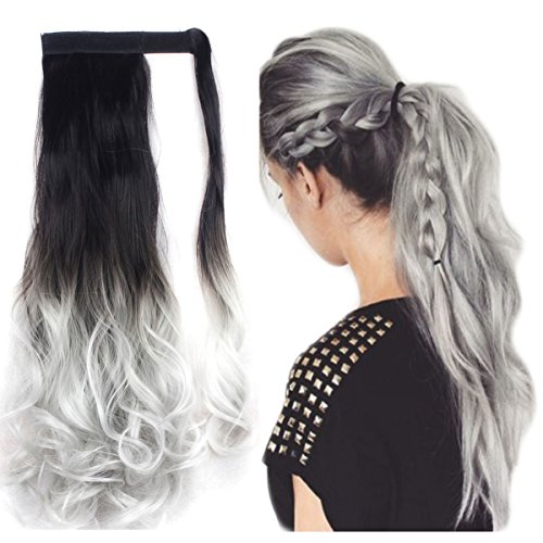 FUT Wrap Around Ponytail One Piece Clip in Curly Pony Tial Hair Extensions...