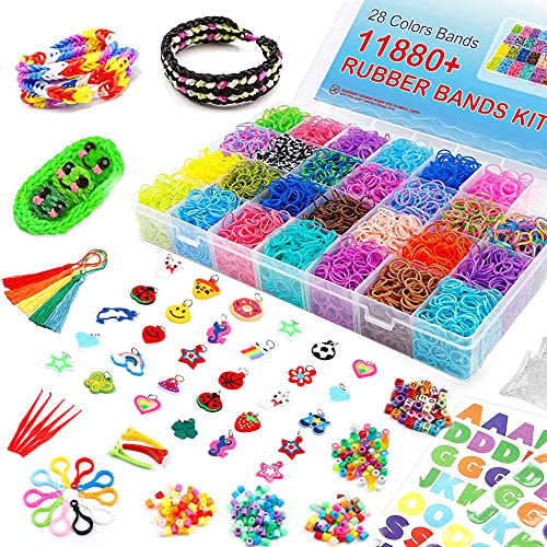 Inscraft 11880+ Loom Bands: Rubber Band Bracelet Kit with Container,...