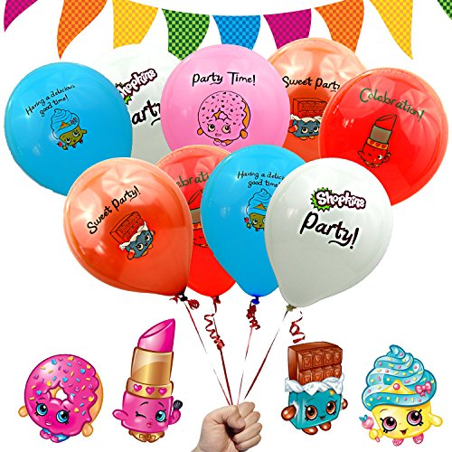 Shopkins Birthday Party Decorations Favors Balloons 12' Printed Latex - (15...