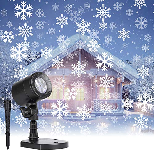 Christmas Projector Lights Outdoor: Led Snowflake Projector Lights...