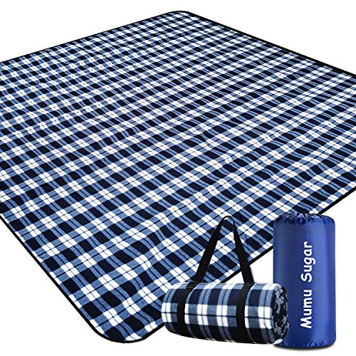Mumu Sugar Outdoor Picnic Blanket,Extra Large Picnic Blanket 80'x80' with 3...