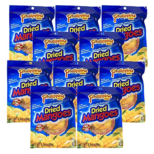 Phillippine Brand Naturally Delicious Dried Mangoes Tree Ripened 3.5 oz 10...