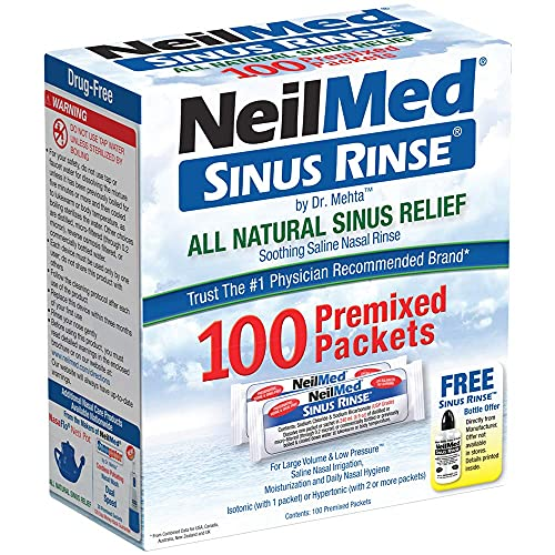 NeilMed Sinus Rinse All Natural Relief Premixed Refill Packets (Pack of...