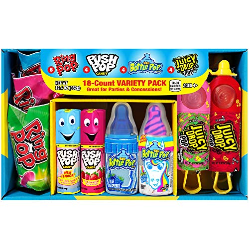 Bazooka Candy Brands Back to School Variety Candy Box - 18 Count Lollipops...