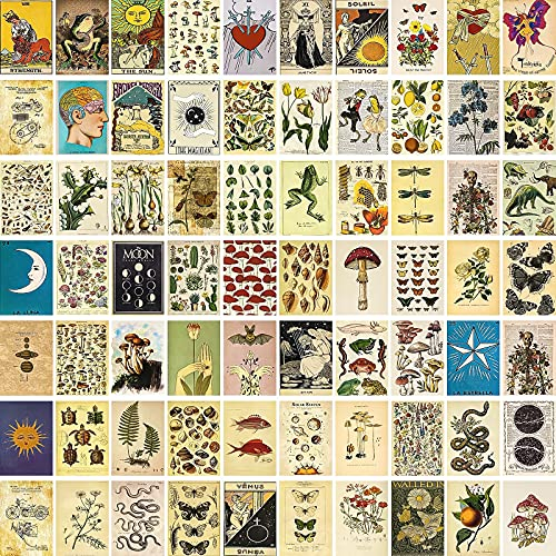 SUPOW Vintage Wall Collage Kit 70pcs, Aesthetic Room Decor Pictures,...
