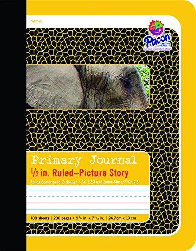 Pacon Primary Composition Book Bound Picture Story Ruled, 1/2-in. Ruled,...