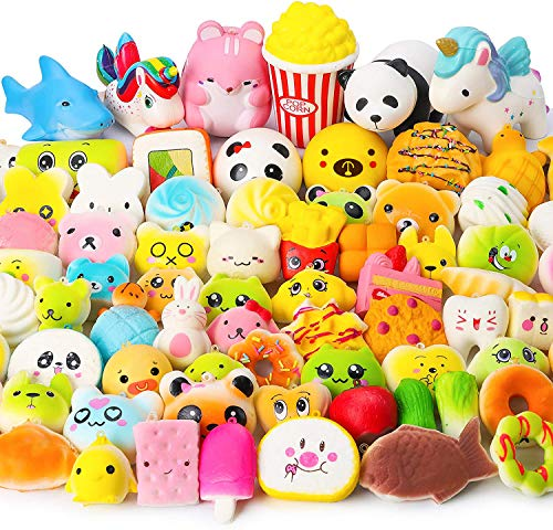 WATINC Random 70Pcs Squeeze Toys, Birthday Gifts for Kids Party Favors,...