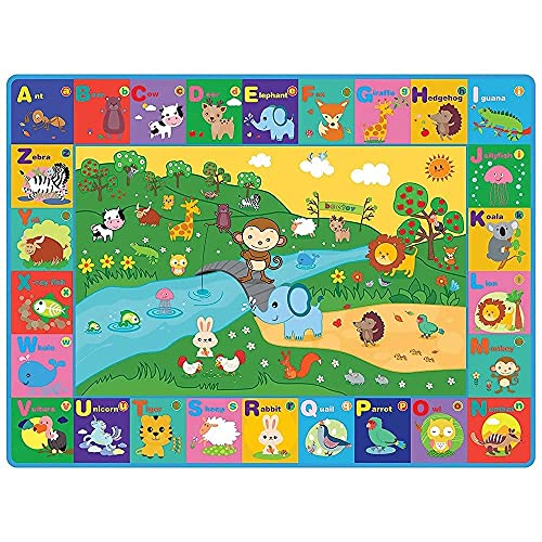 Beetoy Baby Play Mat,Plush Surface Collapsible Non-Slip Design Baby...