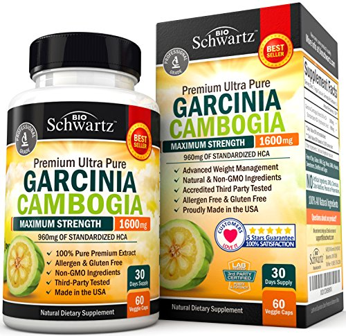 Garcinia Cambogia Weight Loss Pills - Fast Acting Appetite Suppressant &...
