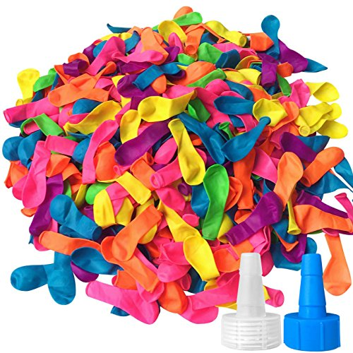 Water Balloons, Hibery 1000 Pack Water Balloons Assorted Colors with Refill...