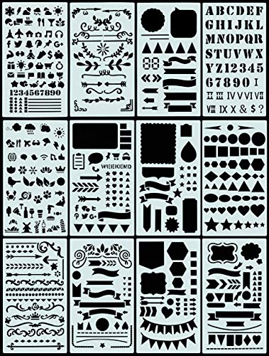 Dotted Journal Stencil Set (Over 300 designs that are great for bullet...