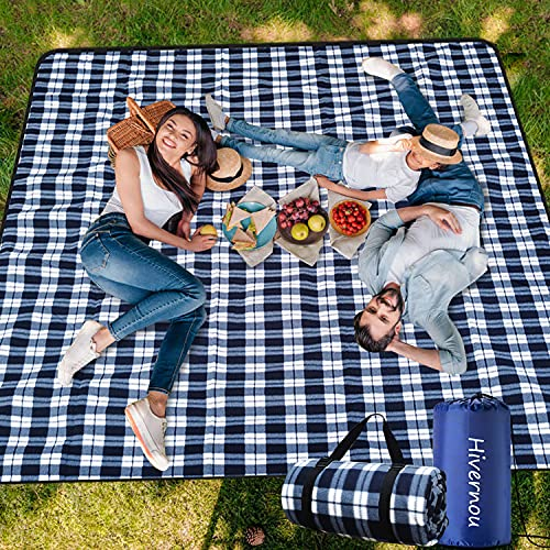 Hivernou Picnic Blanket,Picnic Blanket Waterproof Foldable with 3 Layers...