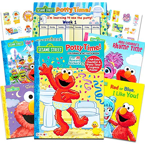 Sesame Street Elmo Potty Training Book Super Set For Toddlers -- Includes...
