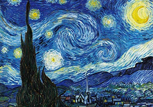 2000 Pieces Starry Night by Van Gogh Jigsaw Puzzles for Adult Reduced...