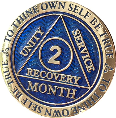 2 Month AA Medallion Reflex Blue Gold Plated 60 Day Chip