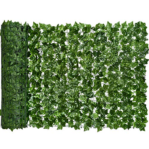 DearHouse 118x39.4in Artificial Ivy Privacy Fence Screen, Artificial Hedges...