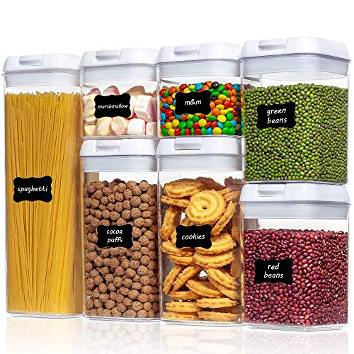 Airtight Food Storage Containers, Vtopmart 7 Pieces BPA Free Plastic Cereal...