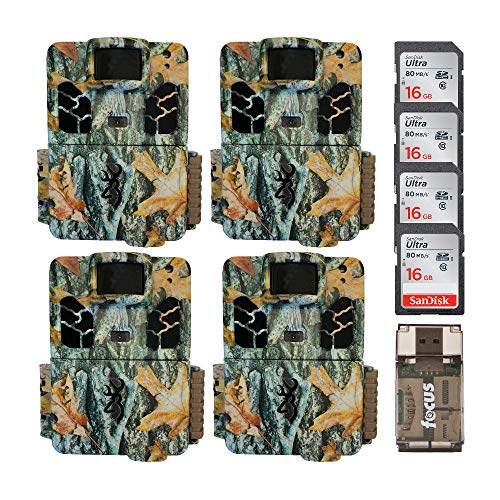 Browning Trail Cameras Dark Ops HD Pro X 20MP Game Cams (Camo) with Four 16...