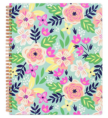 Steel Mill & Co Cute Large Spiral Notebook College Ruled, 11' x 9.5' with...
