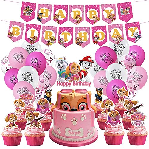 Paw Patrol Party Supplies and Birthday Decorations Skye Girls for 2nd 3rd...