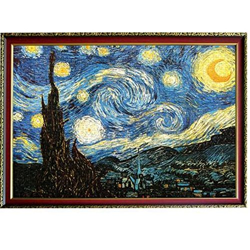 CHengQiSM The Starry Night by Van Gogh Jigsaw Puzzles(2000 Pieces) for Kids...