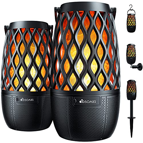 DBSOARS Torch Light Bluetooth Speaker, Outdoor/Indoor LED Flame Atmosphere...