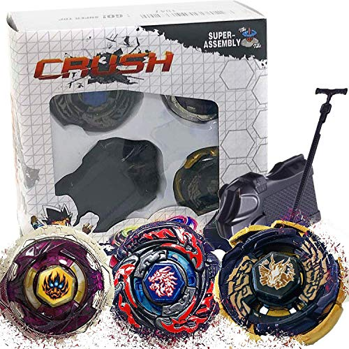Crush Blades Metal Fusion Starter Set | 3 Tops and Launcher (L-Drago...