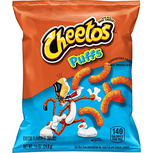 Cheetos Puffs Cheese Flavored Snacks, 0.875 Ounce, Pack of 40