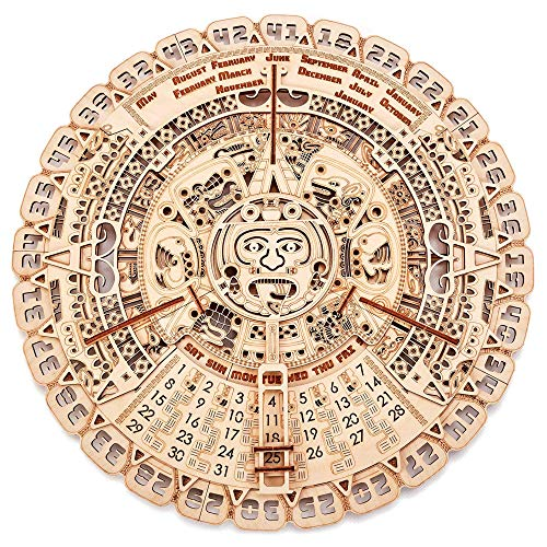 Wood Trick Mayan Wall Calendar 3D Wooden Puzzles for Adults and Kids to...