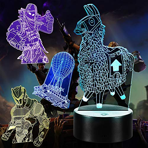 3D Illusion Game Series Night Light, 4 Patterns 7 Color Changing 3D Gamer...