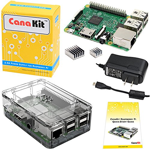 CanaKit Raspberry Pi 3 Kit with Premium Clear Case and 2.5A Power Supply...