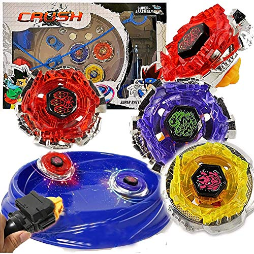 Crush Blades Metal Fusion Starter Set | 4 Tops, 2 Launchers, 4 Tips, 2...