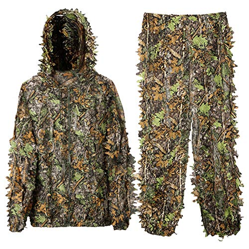 DoCred Ghillie Suit for Men, 3D Lightweight Hooded Camouflage Ghillie...