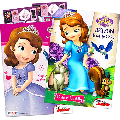 Disney Sofia the First Coloring and Activity Book Set (2 Books ~ 96 pgs...