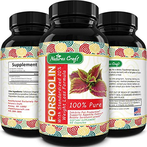 Max Strength Forskolin Weight Loss Supplement for Men and Women - Fast...