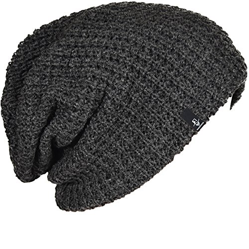 FORBUSITE Mens Slouchy Long Beanie Knit Cap for Summer Winter, Oversize,...