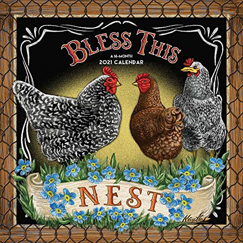 Bless This Nest 2021 12 x 12 Inch Monthly Square Wall Calendar by Hopper...