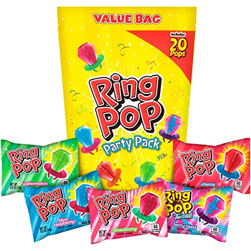 Ring Pop Individually Wrapped Bulk Variety Party Lollipop Suckers with...