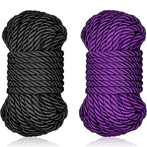 32 Feet Braided Twisted Silk Ropes 8mm Diameter Soft Solid Braided Twisted...